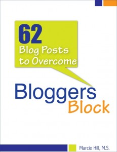 62 Posts to Overcome Blogger's Block by Marcie Hill