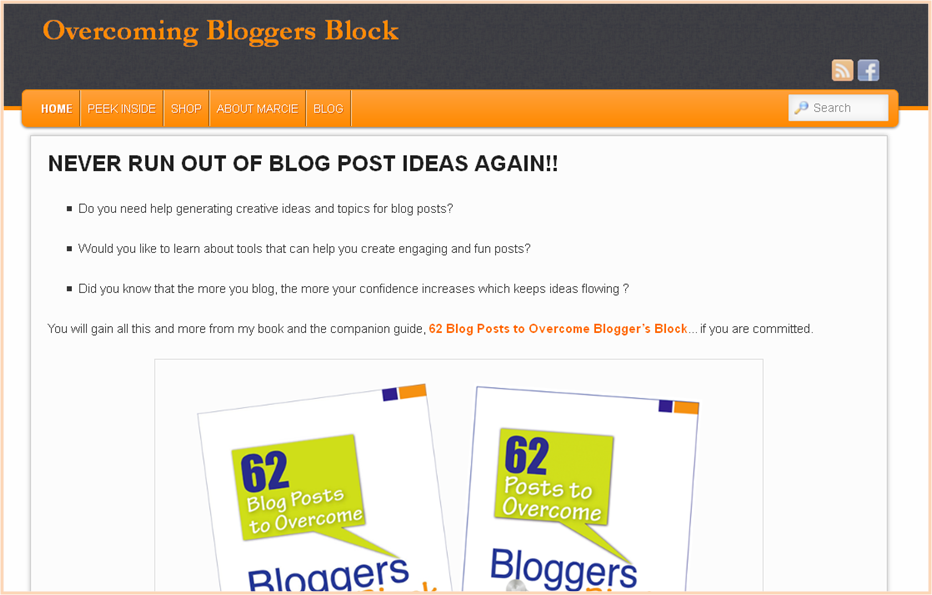 Overcoming Blogger's Block Homepage