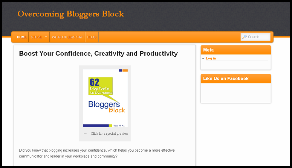 Overcoming Blogger's Block Screenshot