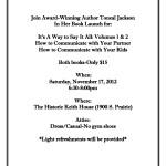 Toneal Jackson's Book Launch – November 17, 2012