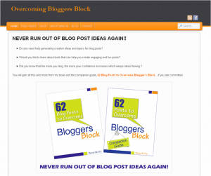 Overcome Blogger's Block Site