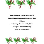 You're Invited to MJM Speakers' Circle Toastmasters Club's Christmas Gala
