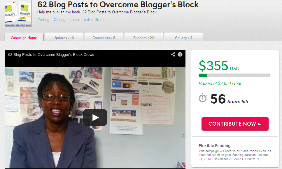 62 Blog Posts to Overcome Blogger's Block - Marcie Hill - Crowdfunding Campaign
