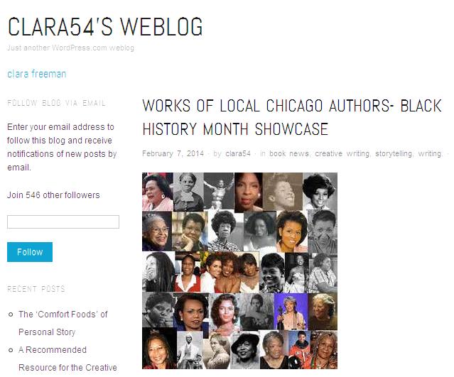 Clara54's Weblog - Clara Freeman