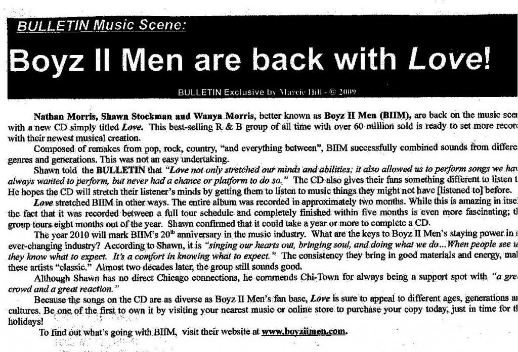 Interview with Boyz II Men - 2009