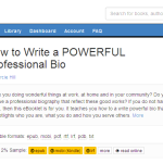 "My Book, ""How to Write a POWERFUL Professional Bio"", is on Smashwords"