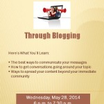 Get Your Voice Heard Through Blogging Tomorrow!