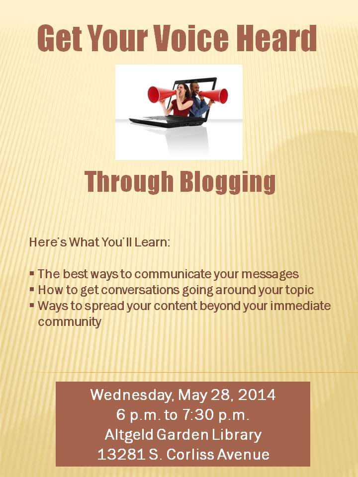 Get Your Voice Heard Through Blogging