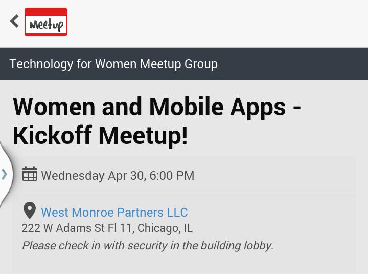 My First Women for Technology Meetup