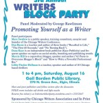 Meet Fellow Publishers & Writers at CWA's Writers Block Party – August 16, 2014