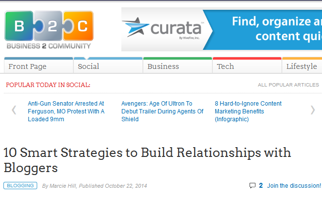http://www.business2community.com/blogging/10-smart-strategies-build-relationships-bloggers-01045368
