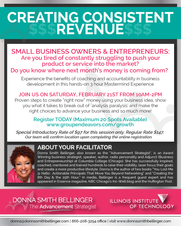 Creating Consistent Revenue - Donna SmithBellinger - February 21st