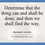 Determined and Done!