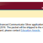 Boast Post: I've Earned My Advanced Communicator Silver