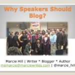 Why Professional Speakers Should Blog [Video]