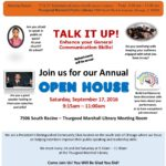 You're Invited to MJM Speakers' Circle Open House – September 17, 2016