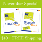Buy 62 Blog Posts to Overcome Blogger's Block Book and Workbook for $40