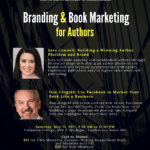 New Flyer for Branding & Book Marketing for Authors Workshop