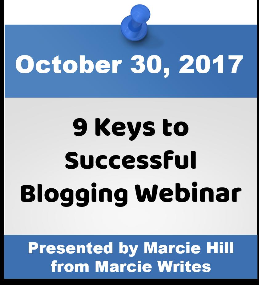 9 Keys to Successful Blogging Webinar